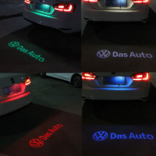 1 x LED Car License Plate Lights Shadow led Projector Logo FOR VW Volkswagen passat B7 2013-2015 jetta MK7 2013-2015