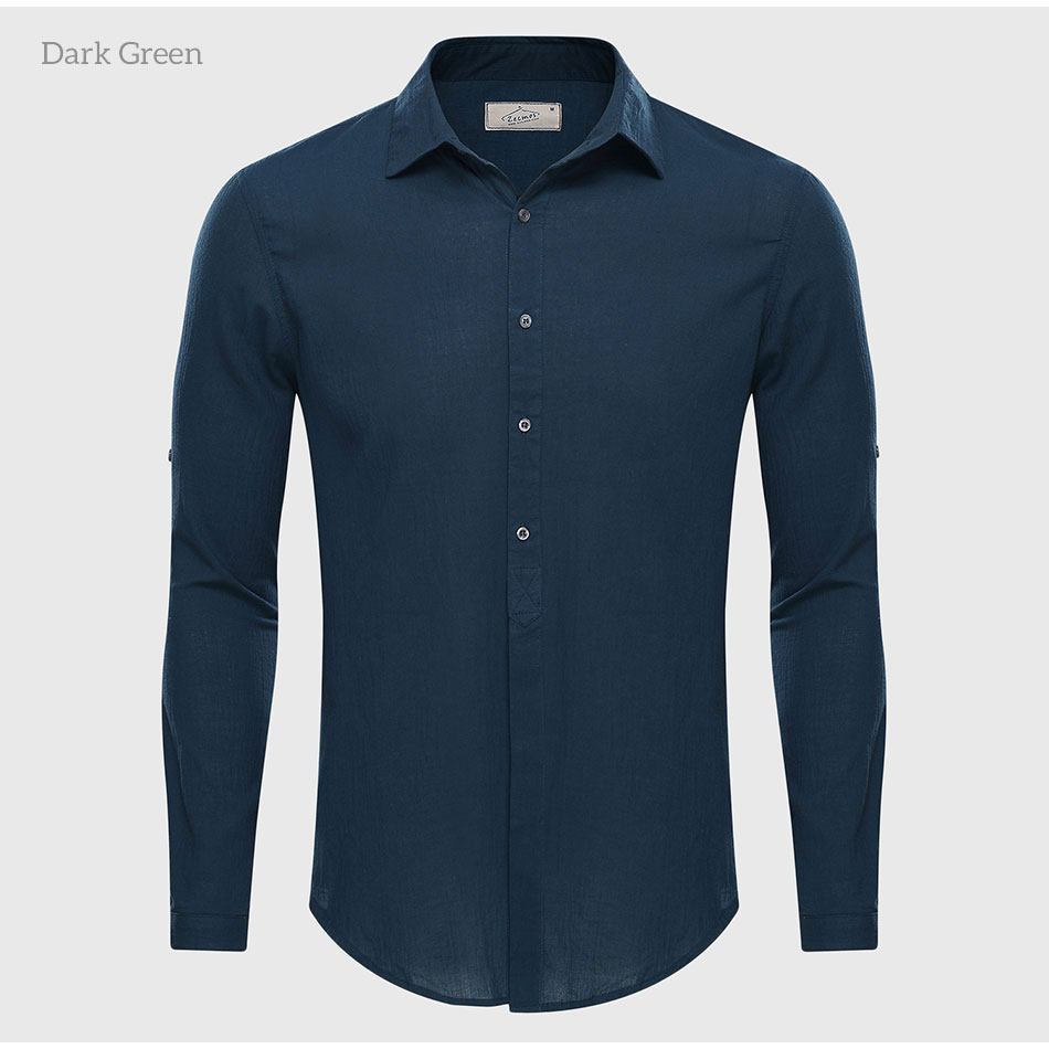 2017 Casual Hawaiian Shirts Men Cotton Linen Designer Slim