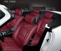waterproof pu leather car seat cover for subaru forester subaru impreza xv front rear full universal car