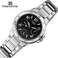 Timesshine FW21B Women Quartz Watches Stainless Steel Luxury Crystal Diamond Watch White Pink Black Optional Ladies