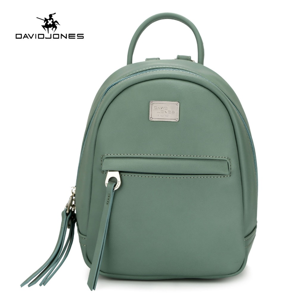 DAVIDJONES women shoulder bags faux leather female backpacks small lady travel school bag girl brand softpack drop shipping цена 2017