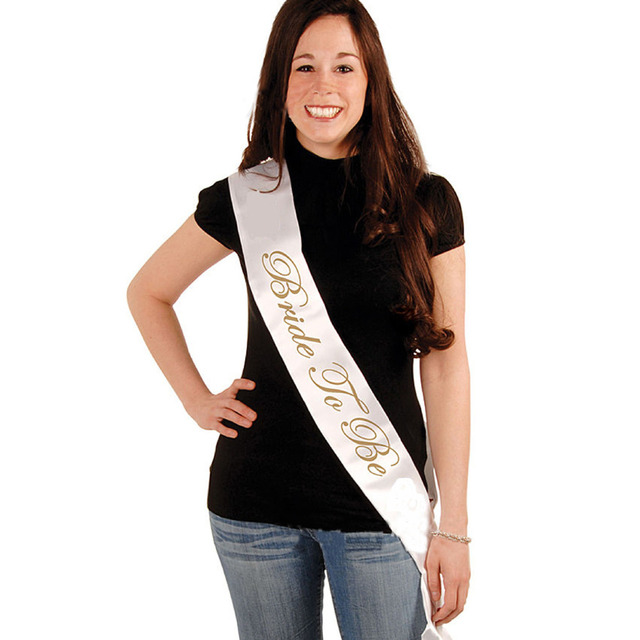 Charming 1pcs Party Supplies Satin Bride To Be Sash/Nanny To Be Bachelorette Party Baby  Shower