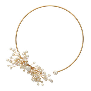 Image 5 - SINZRY original design handmade natural freshwater pearl snowflake chokers necklace band for Women dress bridal jewelry Gift