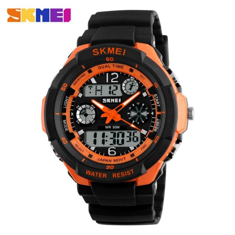 SKMEI Popular Luxury Brand  Men Military Sports Watches Digital LED Quartz Wristwatch Rubber Strap Relogio Masculino Shock Watch
