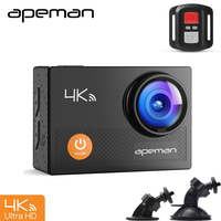 Apeman A77 4K 1080P DVR Video Recorder Wifi UHD Dash Action Sport Camera With Remote Control