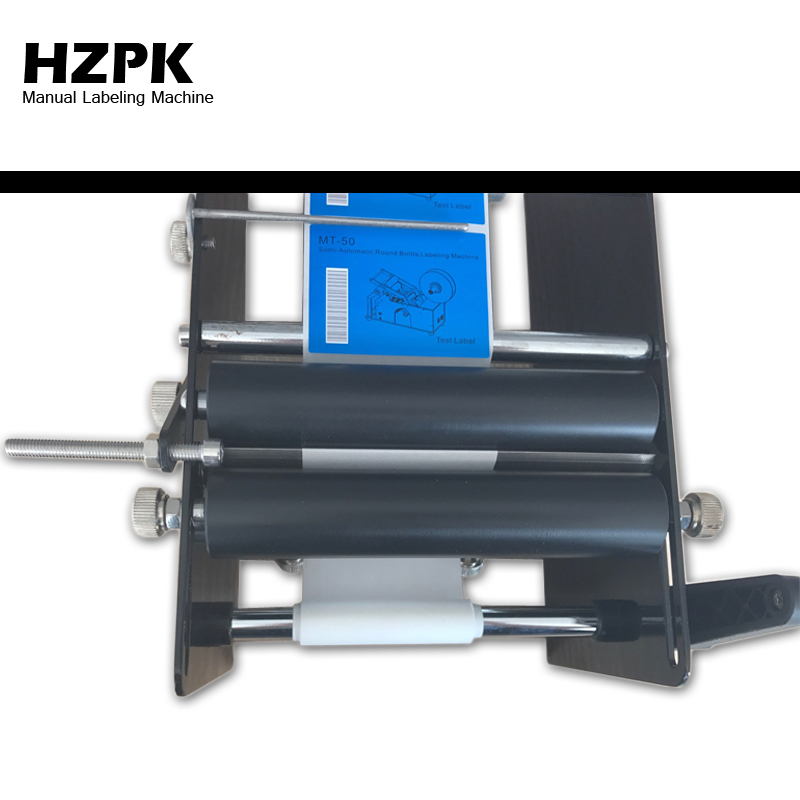 Купить с кэшбэком HZPK Free Shipping Portable Manual Labeling Machine Small Sticker Labeling Machine Jar Can Plastic Bottle Labeler Roll Tag Maker