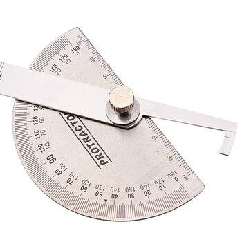 90x150 мм транспортир круглая головка из нержавеющей стали 0-180 градусов угловая линейка Регулируемый универсальный измерительный инструмент ...