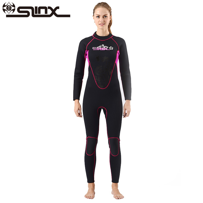 New Women Plus Size Diving Suits Wetsuit Keep Warm 3mm Neoprene One Piece Blind Stitching Jumpsuit Full Surfing Suit Black ...