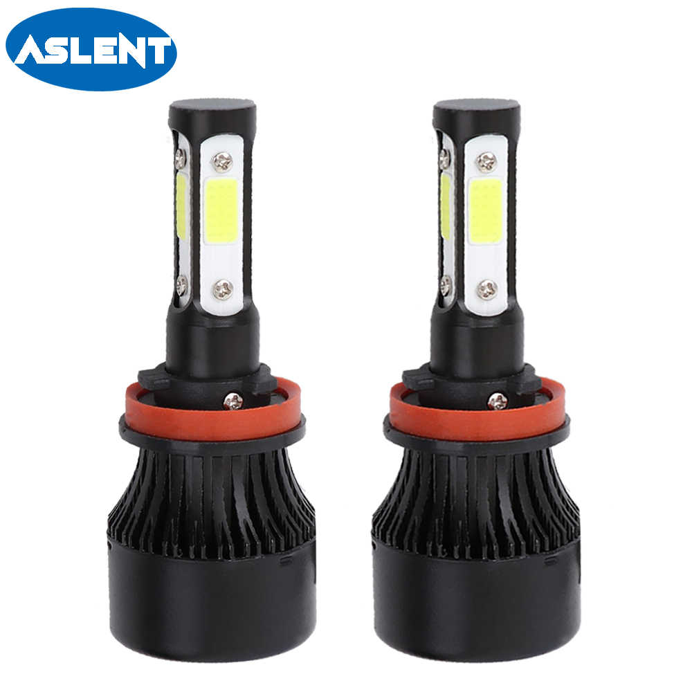 ASLENT-ampoule led H7 Turbo | Lampe led 2x H4 H11 HB3 9005 HB4 9006 9004 9007 9012, phare Auto, 4 Lumen 100W 12000LM 6500K