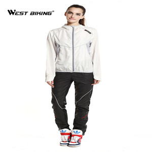 Image 4 - Ветровка велосипедная WEST BIKING с длинным рукавом, спортивная уличная куртка, ветрозащитная водонепроницаемая одежда