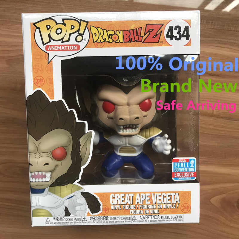 2018 Exclusive NYCC 6 ''Funko pop Amina Oficial: dragon Ball Z-Grande Macaco Vegeta Action Figure Toy Collectible Modelo de Vinil