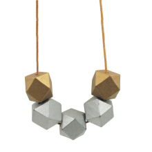 Modern Tribal Wooden Necklace