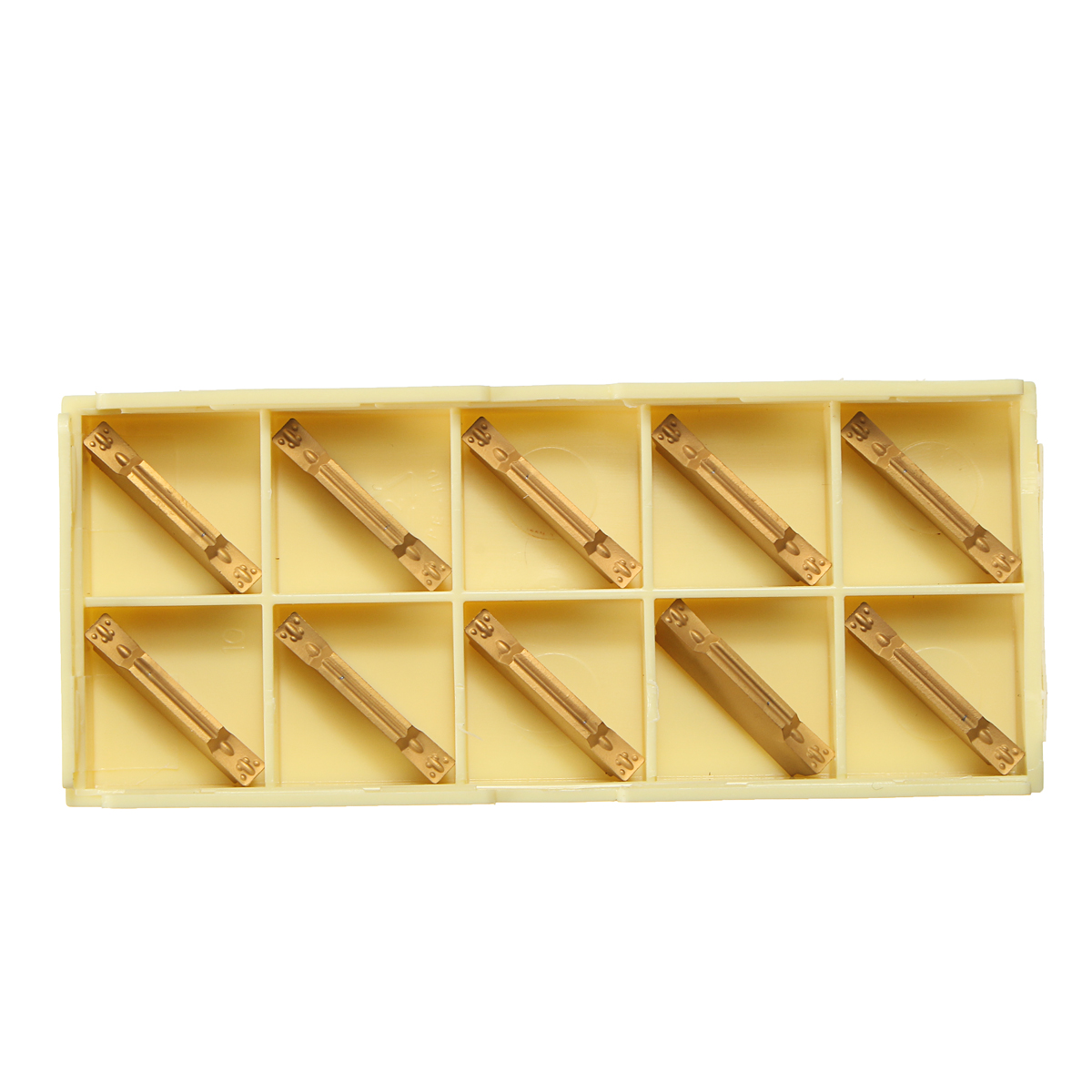 10pcs MGMN300-M Carbide Inserts 3mm Width for MGEHR//MGIVR Grooving Cut-Off Tool