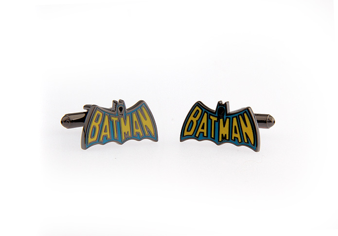 iGame Cufflinks Factory Retail Batman Cufflinks Gun Black Design Cuff Links