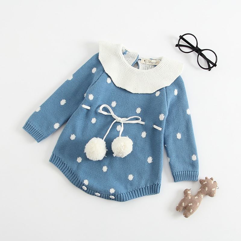 MILANCEL 2018 Baby Girls Clothes Knitted Boys Bodysuits Kids Clothing Long Sleeve Toddler Girls Bodysuits
