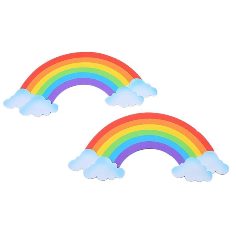 2pcs Set 3d Sponge Rainbow Wall Sticker For Kids Room Diy