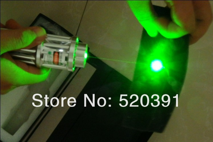 Military Supplies 100000mW / 100W 532nm Lazer Beam Focusable Green Laser Pointers Burning Match,Burn Cigarettes+Charger+Gift Box