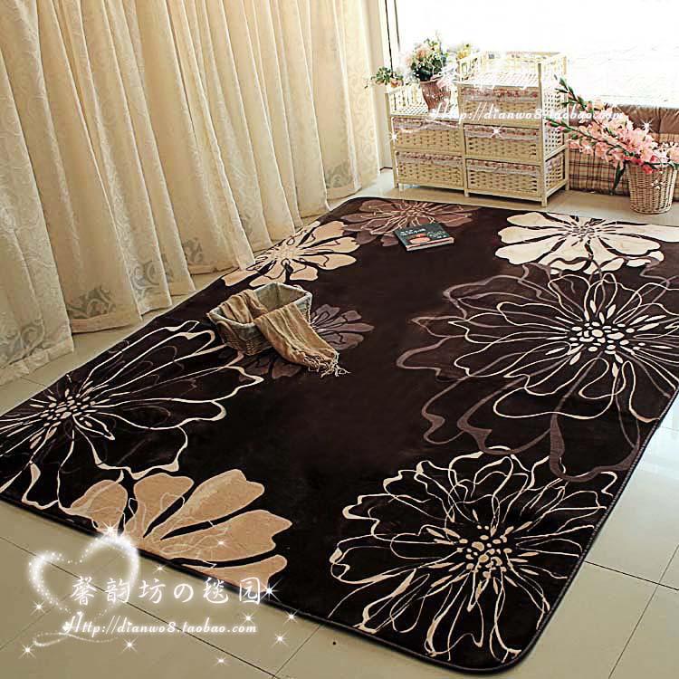 Eco-friendly antibiotic quality FL velvet bedroom carpet table mats super soft mats