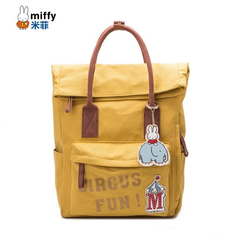 miffy Brand Lightweight design Canvas backpack For Teenagers girls Schoolbag Students Book Bag Youth Women Shoulder Bag Mochila