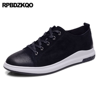 Sneakers 2017 Fashion Trainers Comfort Casual Skate Shoes Black Lace Up Popular Flats Spring Autumn Hot