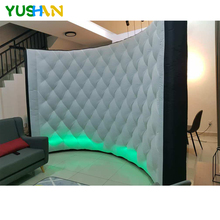 Nice Diamond Pattern Black Inflatable Wall Portable Backdrop cabina inflatable LED wall New Arrival