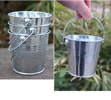 Iron Bucket Metal Basket For Storage Flower Grass Sundries Bin Candy Keg  Pails DIY Garden Room