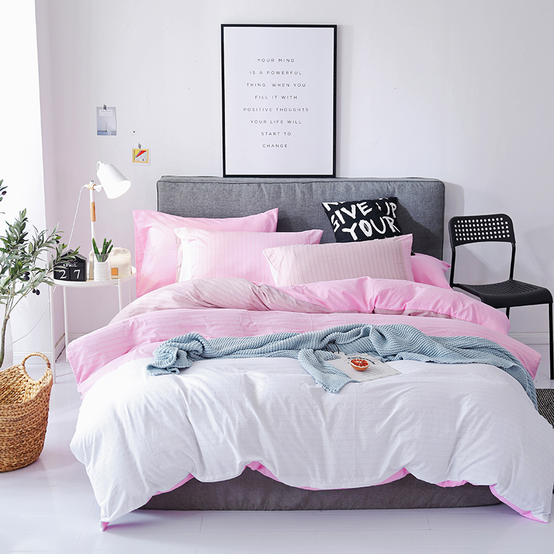 Bedding Sets Full King Twin Queen King Size 4Pcs Bed Sheet Duvet Cover Set Pillowcase Without Comforter