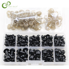 100Pcs/Box 6-12mm New Doll Eyes Plastic Safety Eye DIY for Teddy Bear Doll Animal Puppet Craft Toy Part Doll Accessories GYH(China)