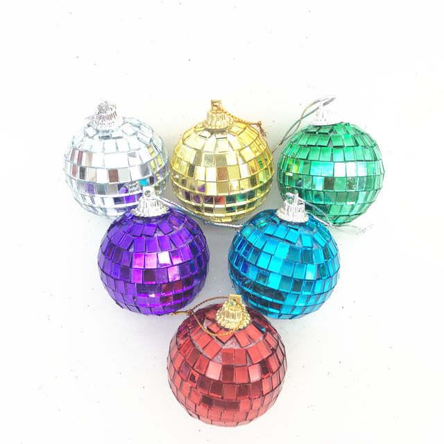 Christmas Decorations Color Mirror Anti Ball Bar Disco Ball Wedding Glass Ball Cake Decorations