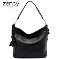 New Arrival Zency 100 Genuine Leather Super Handbag Women Shoulder Bag Casual Tote Fashion Ladies Messenger
