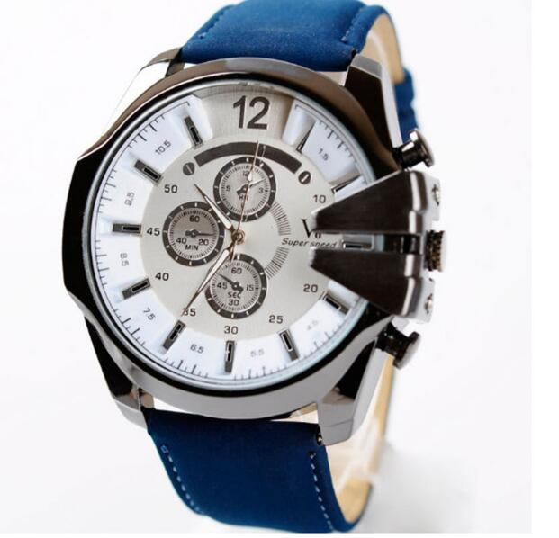 2016 Mens Watches NORTH Brand Luxury Casual Military Quartz Sports Wristwatch Leather Strap Male Clock watch zhishunjia zsj x3 2000lm 4 mode white 3 led bicycle light red 6 x 18650