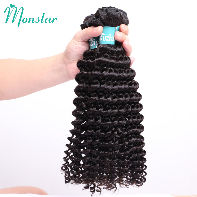Monstar Wholesale Hair 10 Bundles Unpprocessed Peruvian Tight Curly Virgin Hair Human Hair Bundle Natural Color Shipping Free