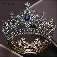 Royal Queen Crown Wedding Full Circle Miss Universe Pageant Tiaras and Crowns Bride Diadem Hair Jewelry Baroque Bridal Hot Sale