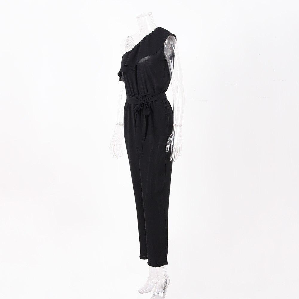 rompers womens jumpsuit summer 2018 overalls plus size jumpsuits streetwear off shoulder ruffle chiffon jumpsuits pants DC17608 4