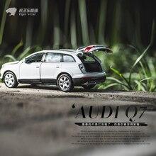 1:32 Audi Q7 моделирование Jeep внедорожник сплава модели автомобиля обратно к автомобилем Детская игрушка автомобиль модель