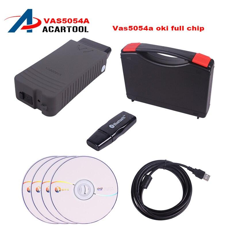 Цена за Best качество VAS 5054A полный чип ODIS V4.13 с OKI UDS VAS5054A VAS5054 bluetooth инструмент диагностики для VW AUDI SEAT Skoda