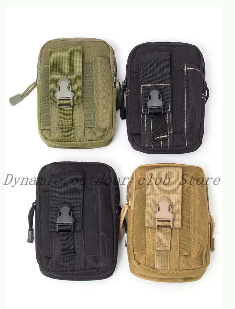 Image 2 - Men Tactical Molle Pouch Belt Waist Pack Bag Small Pocket Military Waist Pack Running Pouch Travel Camping Bags Soft back-in Hunting Gun Accessories from Sports & Entertainment