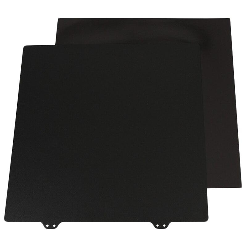 Imprimante 3D lit chaud accessoires 300 Mm autocollant magnétique côté B + Double couche Texture Pei poudre plaque d'acier pour bureau Wanhao Fdm