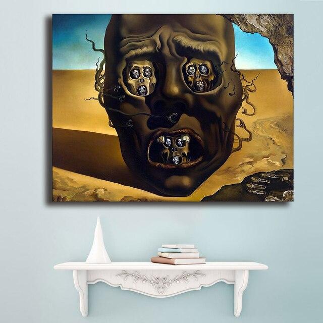 Salvador Dali Le Visage De La Guerre Toile Peinture Pour Le Salon