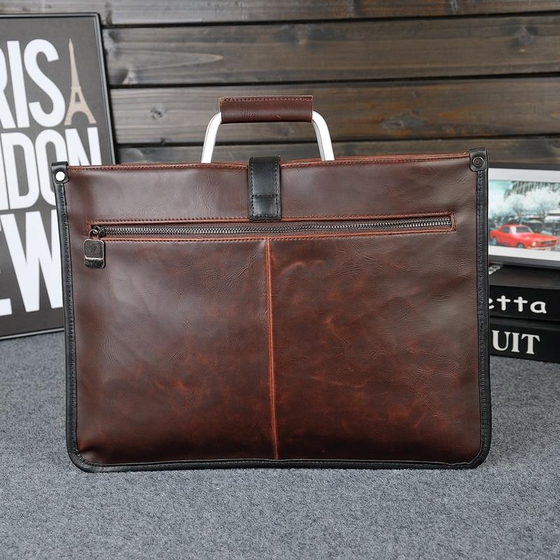 GUMST 2019 Men Crazy Horse PU Leather Handbag Fashion Crossbody Shoulder Bags Messenger Bag Briefcase Business For Male Tote