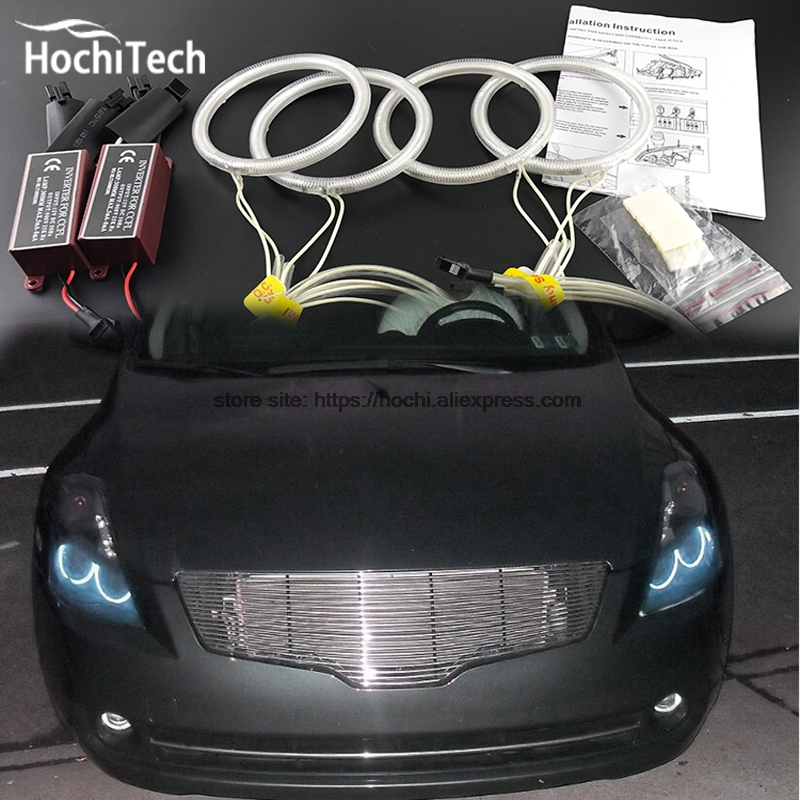 HochiTech Excellent CCFL Angel Eyes Kit Ultra bright headlight illumination for Nissan Altima Coupe 2010 2011 2012 2013 for ford edge 2011 2012 excellent ultrabright headlight illumination ccfl angel eyes halo ring angel eyes kit