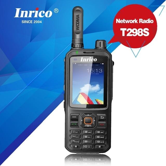 Bộ Đàm 50 Km Mạng 2 Chiều Đài Phát Thanh T298S WCDMA GPS SIM Điện Thoại Di Động Radio UHF Analog 400 470Mhz Cầm Tay
