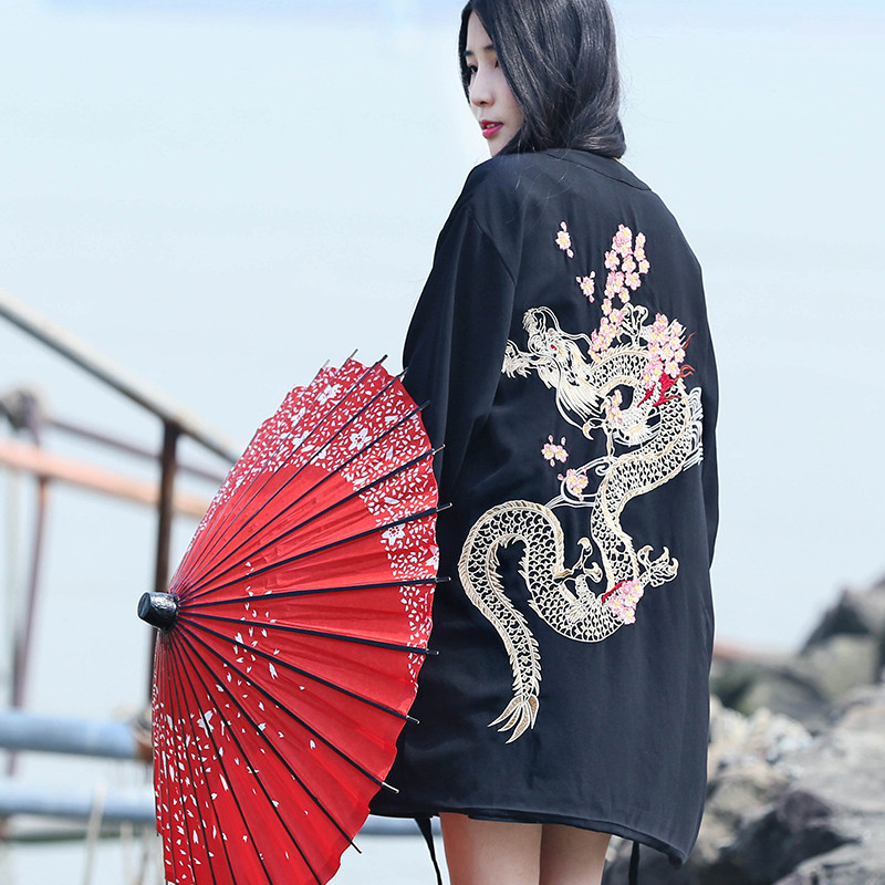 #5302 Summer 2019 High Street Sunscreen Kimono Shirt Women Men Thin Loose Japanese Kimono Style Cardigan Long Harajuku Blouse Blouses & Shirts