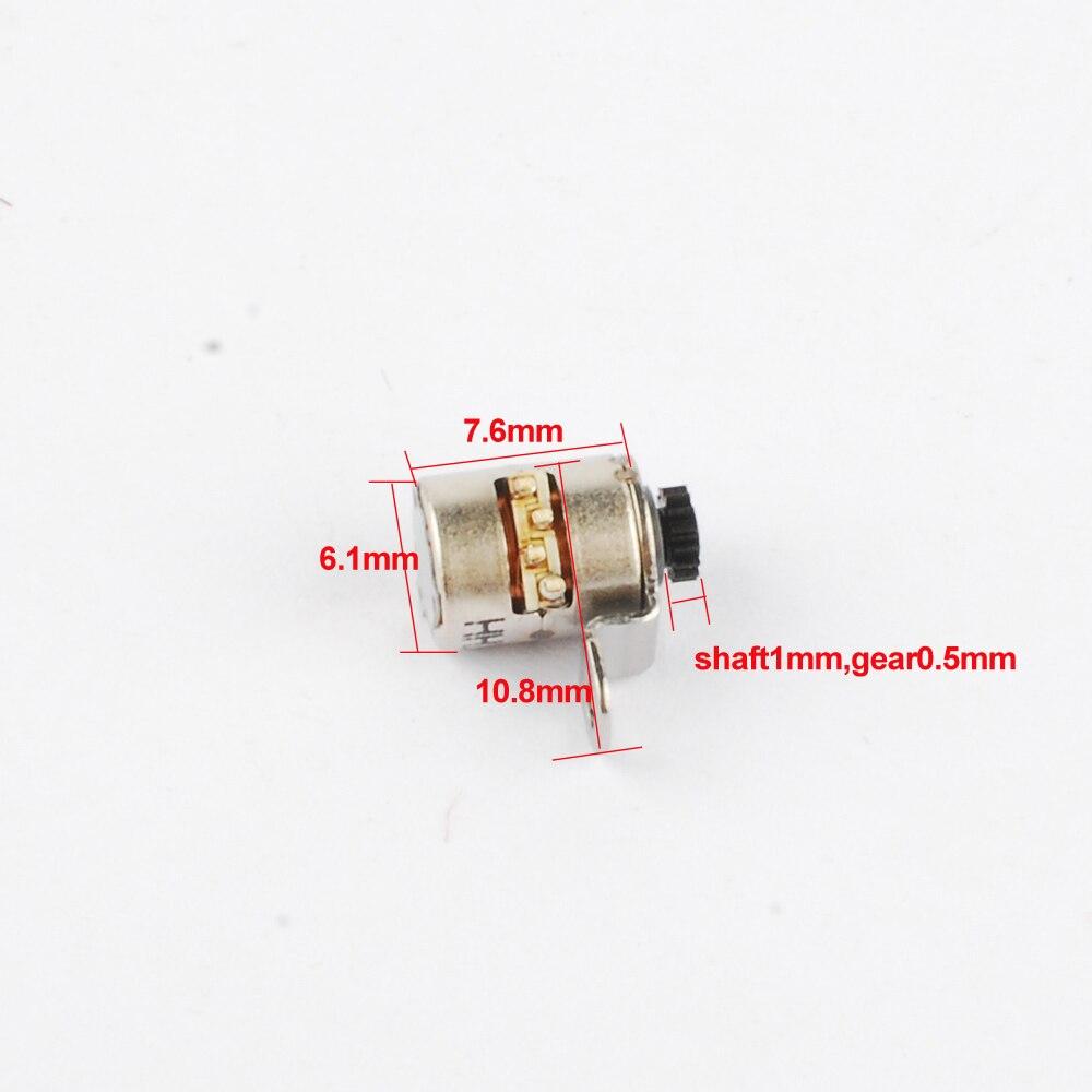 20 шт. японский Nidec мини шаговый двигатель микро шаговый двигатель 2 фазы 4 провода D6.1xH7.6mm шаговый двигатель для камеры
