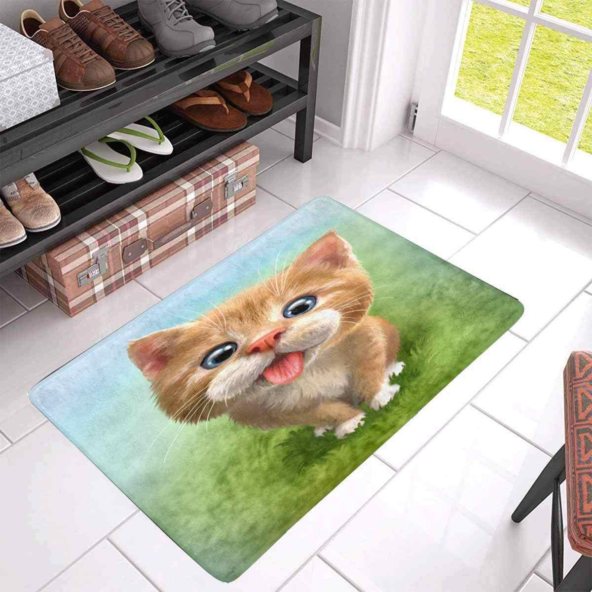 Mèo Trong Nhà Chùi Chân Không Trượt Phía Trước Lối Vào Cửa Mat Thảm Chào Đón Mat Thảm Phim Hoạt Hình Rugrats Tắm Trẻ Em Mat Nhà Bếp Thảm
