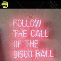 Неоновая вывеска для следования зову дискотечного мяча Decoracion Экспресс игра неоновый свет настенный знак неоновый розовый для спальни Letrero
