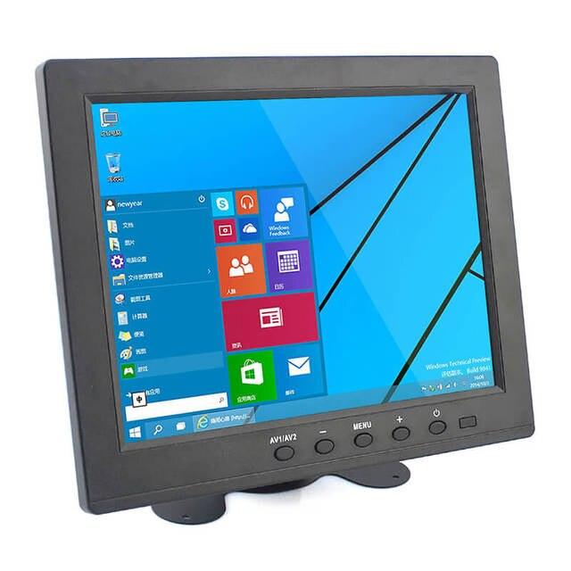 elecrow hd 8 inch tft lcd monitor display screen 1024x768 vga av bnc