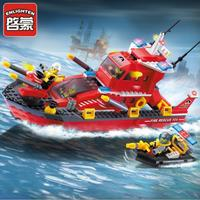 Fun Toy For Children S Blocks Compatible With Legoes Fire Boats Fire Boats Model Children S