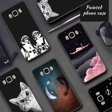 Printed Matte Back Cover Case For Samsung S8 S9 A8 Plus Note 8 J5 2017 A3 A5 A7 J7 J3 2016 J2 Pro S6 S7 Edge Pattern Phone Shell