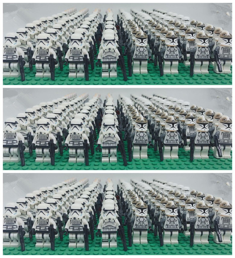 100pcs star wwars trooper white clone building block bricks figures baby toys compatible with